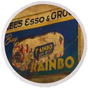 Rainbo Bread Round Beach Towel