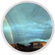 Rainbow Calabrese Round Beach Towel