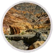 Rainbow Canyon Death Valley Round Beach Towel