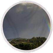 Rainbow Over Carmel Round Beach Towel