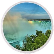 Rainbow Over Niagara Round Beach Towel