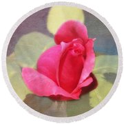 Rainbow Rose Round Beach Towel