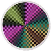 Rainbow Squares Round Beach Towel