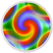 Rainbows Round Beach Towel