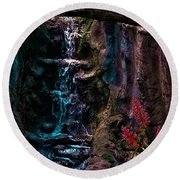 Rainforest Eden Round Beach Towel