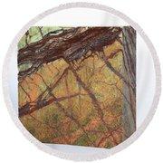 Rainforest Green Marble Round Beach Towel