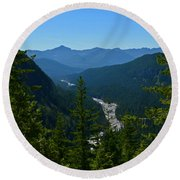 Rainier Valley Round Beach Towel