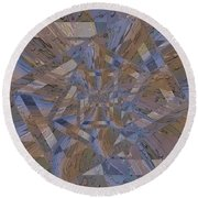 Rainy Day Portal 4 Round Beach Towel