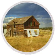 Ranch House Round Beach Towel
