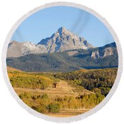 Ranching The Sneffels Round Beach Towel