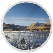 Rannoch Moor - Winter Round Beach Towel