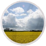 Rape Field Round Beach Towel
