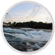 Rapids Round Beach Towel