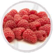 Raspberries Round Beach Towel