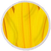 Rays Of Sunflower Round Beach Towel