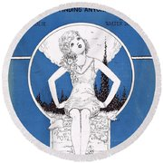 Reaching For Someone Round Beach Towel by Mel Thompson