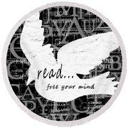 Read Free Your Mind Round Beach Towel
