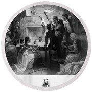 Reading Emancipation Proclamation Round Beach Towel