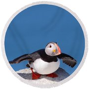 Ready For Takeoff Round Beach Towel