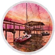 Ready To Sail Round Beach Towel