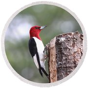 Really Red Round Beach Towel