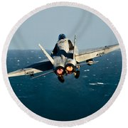 Rear View Of An Fa-18c Hornet Taking Round Beach Towel by Stocktrek Images