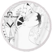Recalling Dreams Round Beach Towel