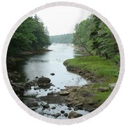 Receding Tide In Maine Part Of A Series Round Beach Towel