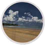 Receding Waters Round Beach Towel