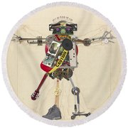 Reconstructed Man Round Beach Towel