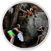 Recruiting Wild Untamed Dancers Round Beach Towel