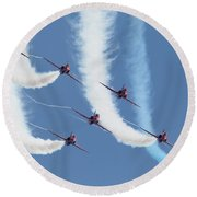 Red Arrows - Formation Magic Round Beach Towel