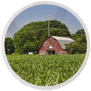 Red Barn - What Charm Round Beach Towel