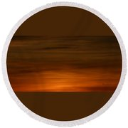 Red Clouds At Night Round Beach Towel