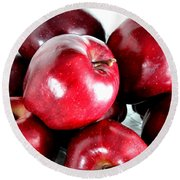 Red Delicious Apples Round Beach Towel