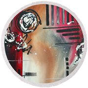 Red Divinity By Madart Round Beach Towel