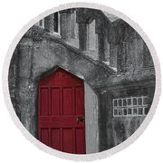 Red Door Round Beach Towel