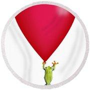 Red-eyed Tree Frog Agalychnis Round Beach Towel