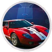 Red Ford Gt40 Round Beach Towel