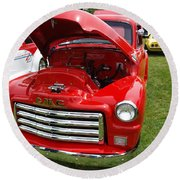 Red Gmc Round Beach Towel