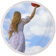 Red Hat Round Beach Towel by Joana Kruse