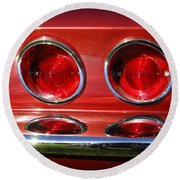 Red Hot Vette Round Beach Towel