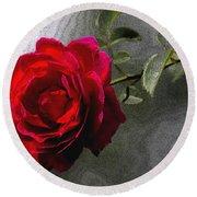 Red Paris Rose Round Beach Towel