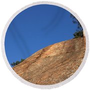 Red Pine Tree Round Beach Towel by Ted Kinsman