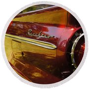 Red Ranchero And Round Taillight Round Beach Towel