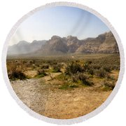 Red Rock Canyon 3 Round Beach Towel