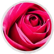 Red Rose Macro Round Beach Towel