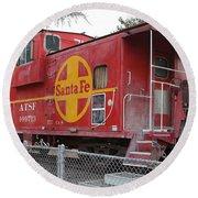 Red Sante Fe Caboose Train . 7d10325 Round Beach Towel