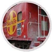 Red Sante Fe Caboose Train . 7d10334 Round Beach Towel