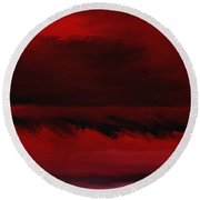 Red Sea Abstract 112711 Round Beach Towel